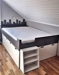 Ikea Hack Stuva Storage Bench Kids Bedroom Diy Grey And White IKEA Platform  Storage Bed