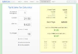 7 125 Sales Tax Chart Tip Sales Tax Calculator Salecalc Com