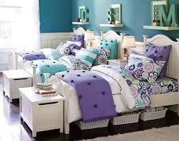 Cute for twins or triplets. Teenage Girl Bedroom Ideas | Shared Bedroom |  PBteen.