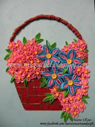 Paper Quilling Flower Baskets 85 Best Quilling Vases Bowls Baskets Images Bowls Quilling