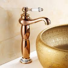verona gold finish bathroom faucet
