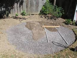a flagstone patio with irregular stones