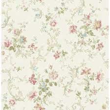 Floral Scroll Flora FG70511 Wallpaper ...