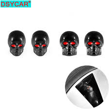 DSYCAR <b>4Pcs</b>/<b>lot</b> Universal Skull Car Moto Bike Tire <b>Wheel</b> Valve ...
