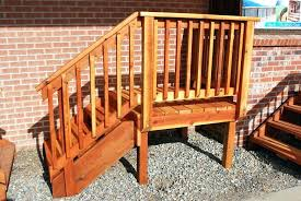 prefabricated exterior stairs prefab deck outdoor stair railings steps uk out