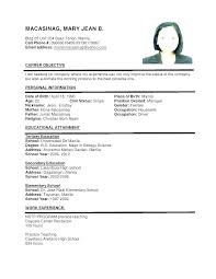 Examples Of Resume Formats Latest Professional Resume Format Proper
