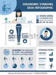 standing desk infographic. Plain Desk Ergonomic Infographic Standing Desk In Workplace Statistic About Sitting  Disease Inactive Lifestyle And Inside Desk Infographic A