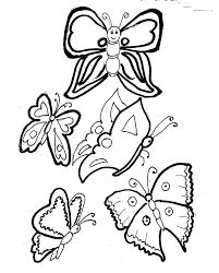 Disegni Da Colorare Bambini I Farfalle