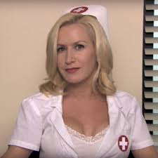 Angela Martin Costume - The Office   Angela martin, Angela the office,  Celebrity costumes