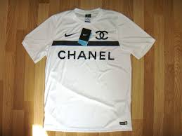 chanel shirt. nike chanel dry fit authentic football jersey shirt new size large white limited edition - photo