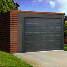 image of modular small garage doors for sheds
