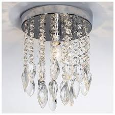 glanzhaus mini style silver twisted leaf hanging fixture bead shade crystal chandelier flush mount ceiling light ceiling light fixture 1 light 2 tier