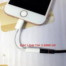 Bình luận Cáp chuyển tai nghe iphone Lighning ra chân tròn 3.5 mm, Jack  adapter hỗ trợ mic nghe gọi cho Ip 5 6 7 8 x 11 12 KLH
