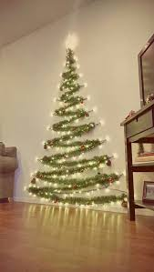 Christmas Tree Design On Wall With Lights 40 Christmas Lights Apartment Decorating Ideas Wall
