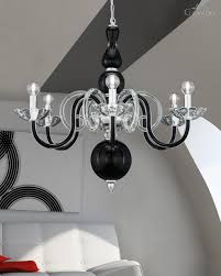 118 ch 6 chrome black crystal chandelier amanda chandeliers