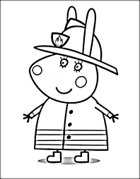Peppa Pig Colouring Pages Pdf Online Colouring Pages