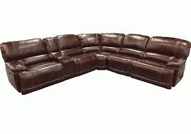 cau bordeaux genuine leather 6pc power reclining sectional