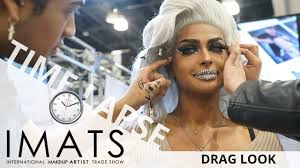 drag look makeup time lapse imats 2018 ei makeup