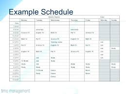 Timeline Template For Student Simple Time Management Weekly Schedule Template Work Schedule Maker
