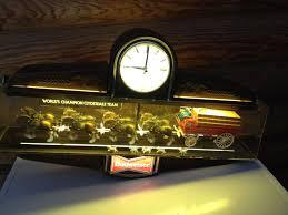 Vintage Budweiser Clydesdale Sign Large Hanging Light Wagon