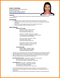 9 Simple Resume Sample Without Experience Job Letteres Resume