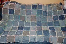 jeans quilt - a gallery on Flickr & jean and tshirt rag quilt (2) Adamdwight.com