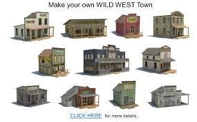 wild western scale models town buildings plans