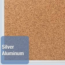 Cork Bulletin Board Quartet Classic Series Cork Bulletin Board 36 X 24 Silver