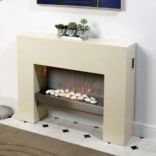 CREME FREE STANDING WALL MOUNTED ELECTRIC FIRE MDF SURROUND FIREPLACE  FLICKER FLAME: Amazon.co.uk: Kitchen & Home