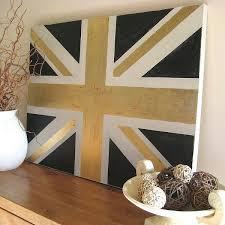 painted furniture union jack autumn vignette. Hand Painted Gilded Union Jack Canvas Furniture Autumn Vignette