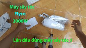 Mở hộp và đánh giá nhanh máy sấy tóc Flyco mua trên shopee // - YouTube