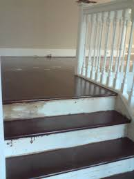 image of finished laminate flooring on stairs