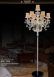 7 lamp european luxury crystal floor lamp e14 candle crystal floor chandelier light decorative living room
