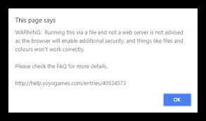 HTML5: Warning When Running Game Locally Via index.html File – YoYo ...