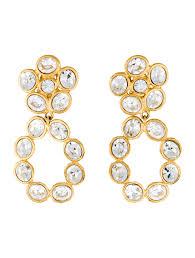 chanel crystal earrings earrings cha94346 the realreal