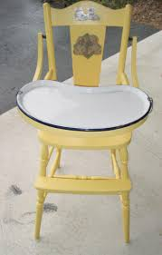 classic high chair with enamel tray and original decals this is like my high chair marilyn busby horchem