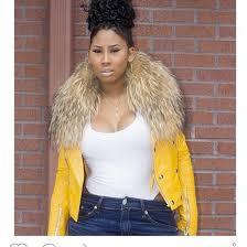 jai nice yellow fall jacket fall outfits 2016 fall fashion fall fashoin fall coat fur fur stole stole fur trim hood lambskin leather