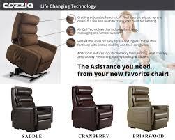 cozzia mc 520 lay flat infinite position lift chair recliner colors