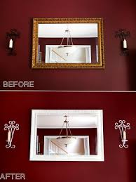 Update an Old Mirror Frame | DIY Painting Tutorial - update your wall decor  for less