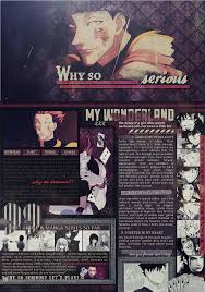 mal profile layouts hisoka layout for myanimelist by notmi on deviantart
