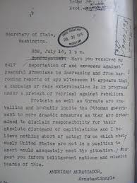 the n genocide science notes 1915 letter from u s ambassador to turkey