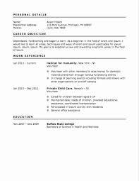 First Resume Samples Inspirational Printable Volunteer Resume Sample