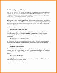Objectives To Put On A Resume 100 good resume objective resume type 64