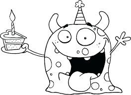 Birthday Coloring Pages Shrewd Happy Birthday Coloring Pages To
