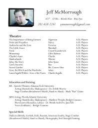 Theatre Resume. Best Theatre Resume Template Music Resume Sample