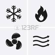 air conditioning icon vector. hvac (heating, ventilating, and air conditioning) icons. heating cooling technology conditioning icon vector c