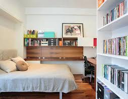 office guest room. Small Home Office Guest Room Ideas Bedroom And With Ample Shelf Space Design