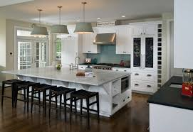 Attractive Image Of: Chic Marble Kitchen Island Designs With Seating Pictures