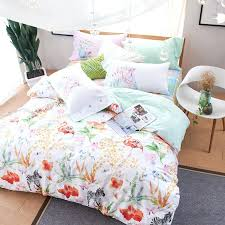 duvet cover fabric fashion zebra flamingo printed queen size bedding set soft with fabric for duvet duvet cover fabric