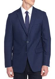 vince camuto modern fit check sport coat navy tattersall neat men suits coats